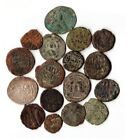 LOT OF 17 ANCIENT ISLAMIC COINS ARAB BYZANTINE UMAYYAD SELJUKS ARABIC ISLAM RARE