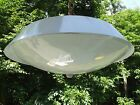 MID CENTURY flying saucer Light Ceiling Hanging Lamp swag THOMAS INDUSTRIES USA
