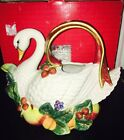 Fitz & Floyd Large Holiday Swan Teapot Good Condition RARE