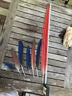 6 Parrot Tail Feathers Set Lot Bird Macaw 1 Tail 28