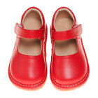 Girls Leather Squeaky Mary Jane Toddler Shoes Solid Red Sizes 1 7