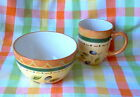 PFALTZGRAFF TUSCAN OLIVES - BREAKFAST FOR 2 - CEREAL BOWL AND 12 OZ COFFEE MUG