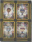 Hot air balloons watercolor quilt kit by Mim Schlaabach for Whims Watercolor