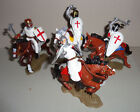 Knights on horseback ARGENTINA DSG Medieval Plastic Soldiers set Britains
