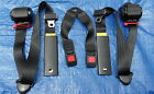 NEW JEEP CJ  WRANGLER REPLACEMENT 3 POINT REAR SEAT BELT PAIR BLACK 1992 95