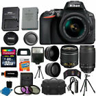 Nikon D5600 Black DSLR Camera w 18 55mm VR + 70 300mm + 32GB Top Value Bundle
