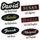Custom Embroidered Name Patch 4 5 Iron on Name Tag Rectangular Oval Freehand