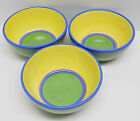 SET OF THREE DANSK HAND PAINTED SOUP OR CEREAL BOWL  CARIBE JAMAICA JADE PATTERN