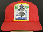 Teamwork AMOCO KELLOGG KCI Texas Red Baseball Cap Hat Adjustable Snapback Strap