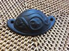 Large Brown Cast Iron Half Moon Scroll Drawer Handle Pull