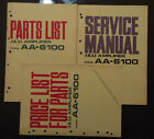 3 book lot AKAI aa-6100 Service Manual original Repair book stereo parts list