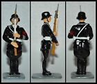 Country GLOSSY WW II German Trooper Standing at Attention