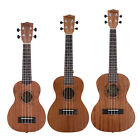 New Sapele Wood Soprano 4 String Ukulele Musical Instrument Hawaiian Guitar