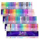 Tanmit 240 Color Gel Pens Set for Adult Coloring Books Writing Kid Drawing 12