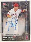 Mike Trout 2016 Topps Now AL MVP Award on-card Autograph Auto #'d 9 99 - ANGELS