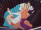 EXCEPTIONAL ANTIQUE  JAPANESE  SHUNGA MEIJI EROTICA HAND PAINTED FAN 1900-1930