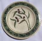 ONEIDA OLIVETO  SALAD PLATES Hand Painted Purple Green Tan Very Good condition