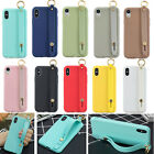 3D Strap Stand Outdoor Case Non slip Shockproof Back TPU Slim Silicone Cover