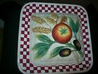 Fitz and Floyd Papa Paisano Covered Vegetable Bowl & Pasta Dish EUC