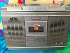SONY CF-580  portable cassette player/radio BOOMBOX VINTAGE as is