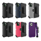Lot 6 Protective Defender Case With Clip iPhone 6 7 8 X 11 12 Wholesale