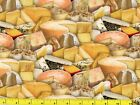 All Kinds of Great Cheese Quilting Fabric by the Yard 513