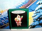 Joyful Santa`1995`Miniature-Santa With Gift Bag,Hallmark Christmas Ornament-New
