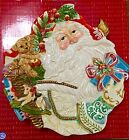 Fitz and Floyd Enchanted Holiday Santa Canape Plate 19/1452 2002 Christmas