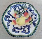Fitz & Floyd Florentine Fruit Small Bowl~Embossed Fruit~White~Blue~Green