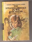 Nancy Drew THE STRANGE MESSAGE IN THE PARCHMENT 1st Printing COOK BOOK AD