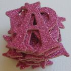 Doodlebug RASPBERRY PiNK GLiTTER Alphabet Chipboard Letters Die Cuts 15