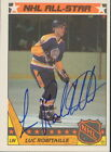 1987-88 TOPPS - LUC ROBITAILLE #12 LOS ANGELES KINGS ALL-STAR AUTOGRAPH CC