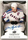 MARK MESSIER RANGERS NHL EXQUISITE COLLECTION AUTO AUTOGRAPH , 01 25, FIRST CARD