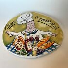 Tracy Flickinger Bon Appetite Chef Trivet Plate Wall Hanging By Mud Pie 8.25