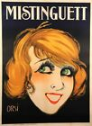 """Original Vintagee Classic French Poster """"Mistinguett"""" by Orsi 1920's"""