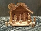 Nativity Set Genuine Olive Wood Bethlehem 12 pcs set
