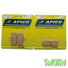 Apico Trials 308 Front 173 Rear Brake Pads Sherco ST 125 250 290 13-14 Goldfren