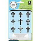 Inkadinkado Clear Stamps Crosses Inchies New