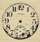 Tim Holtz Red Rubber Stamp Clock 175X175 New