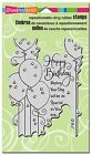 Stampendous Cling Rubber Stamp Birthday Balloons New