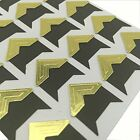 Set of 8 Sheets DIY Scrapbook Album Photo Mounting Corners 24 Pc Sheet Gold
