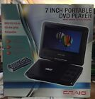 Craig 7-Inch TFT SWIVEL SCREEN Portable DVD/CD Player with Remote (Sealed)