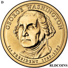 2007 D PRESIDENT GEORGE WASHINGTON UNCIRCULATED PRESIDENTIAL DOLLAR 1D