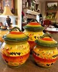 La Province Hand Painted Kitchen Canisters 3 Piece Set by Tabletops Gallery
