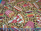 3 Yards Quilt Cotton Fabric Northcott Cravings Junk Food Pizza Burgers Fries