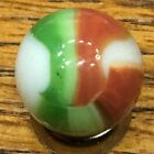 MARBLE KING ? - RED / GREEN / WHITE  19/32  INCH