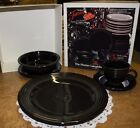 Fiesta by Homer Laughlin 5 piece Black NIB Fiestaware In Original Box