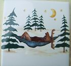 Ceramic Tile Campground Moose Cute Camp Ground Wildlife