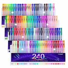 Tanmit 240 Color Gel Pens Set for Adult Coloring Books Writing Kid Drawing