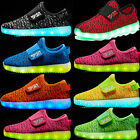 Children Kids Boys Girls Casual Luminous Sneakers Shoes Led Light Shoes 7 Colors